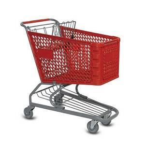 120 liter Plastic and Steel Shopping Trolley - The Meta Store