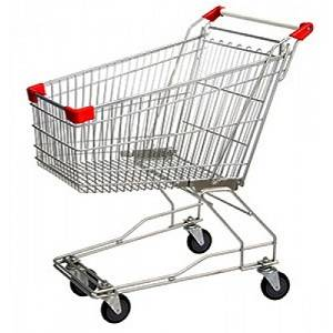120 liter Steel Supermarket Shopping Trolley - The Meta Store