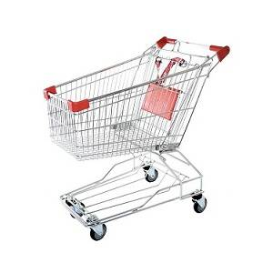 60 liter Steel Supermarket Shopping Trolley - The Meta Store
