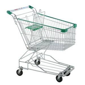 90 liter Steel Supermarket Shopping Trolley - The Meta Store