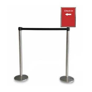 Queue Manager with A4 signage holder
