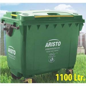 Aristo 1100 liter garbage container with 4 wheels