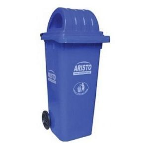 Aristo 120 liter wheel waste bin with dome lid