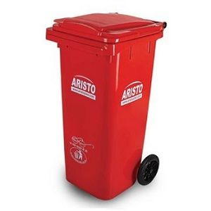 Aristo 120 liter wheel waste bin