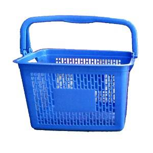 Nilkamal plastic shopping basket with handle for supermarkets - The Meta Store