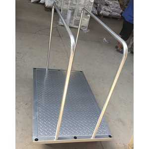 Big steel platform trolley for boards and ply