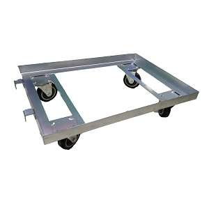Steel dolly for plastic crates and boxes 150 kgs capacity