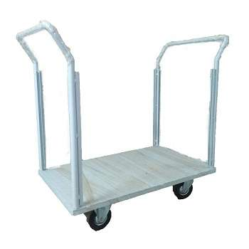 Steel platform trolley with double handles 500 kgs capacity