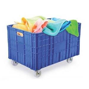 HDPE super jumbo crate with wheels 100 kgs