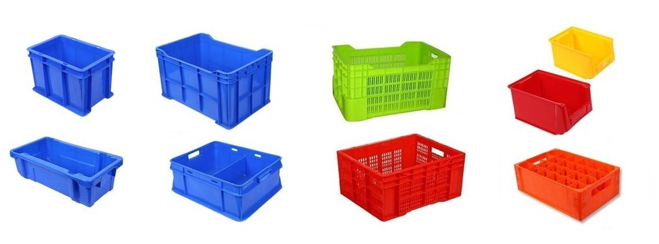 Fuits vegetable plastic crates and industrial storage crates - The Meta Store